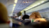 Interior of a crowded Aeroplane. HD video
