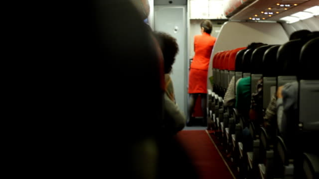 Interior of a crowded Aeroplane video