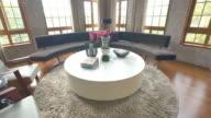 interior of big living room   4k video