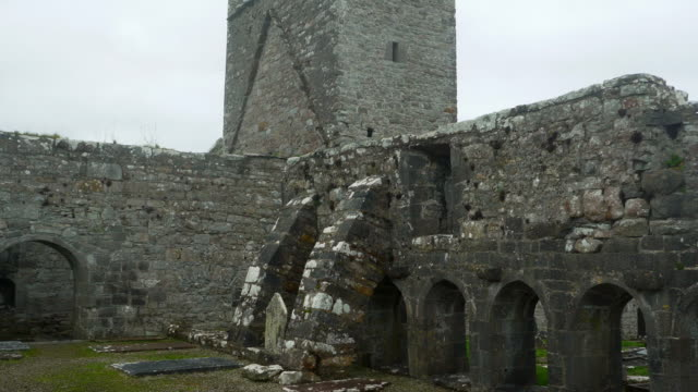 Interior Of Burrishoole Friary In County Mayo video