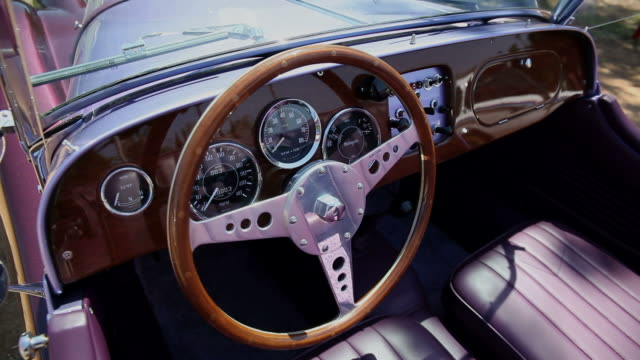 HD: Interior of classic car video