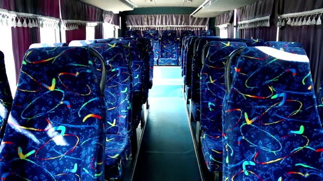 Interior of minibus video