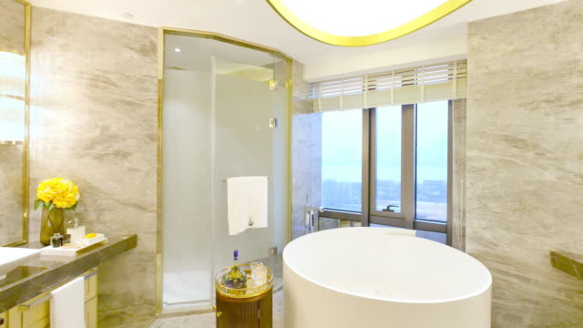 interior of modern bathroom video