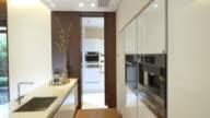 interior of modern kitchen  4k video