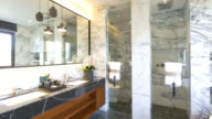 interior of modern washroom 4k video