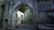Interior Of Muckross Abbey In Killarney National Park Tilt Up video