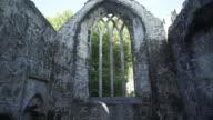Interior Of Muckross Abbey In Killarney National Park video