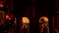 Interior of Orthodox Church video