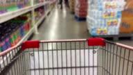 Interior of Supermarket video