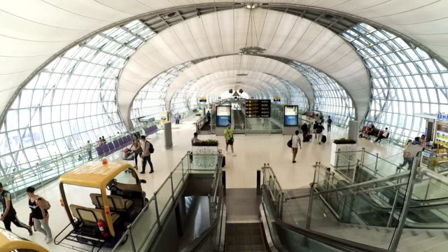 Interior of Suvarnabhumi Airport. video