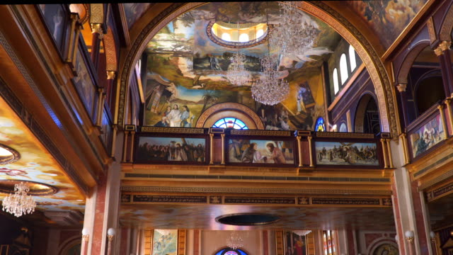 Interior of the Coptic Christian Church in Egypt video