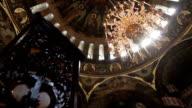 Interior of the historic church. video