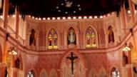 Interior view of a modern church, Chanthaburi , Thailand video