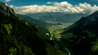 Interlaken village and valley summer time lapse video