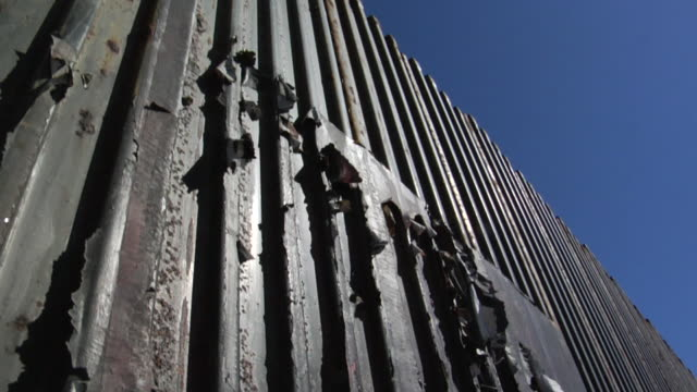 International Border Fence - Mexico and USA video