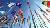 International flags with sun video