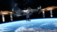 International Space Station Orbiting Planet Earth video
