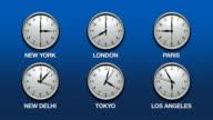 International Time Zones (HD Loop) video