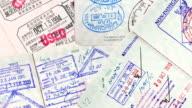 International Travel Passport Stamps. video