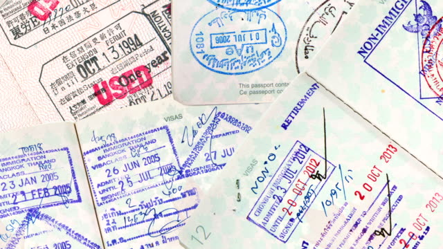 International Travel Passport Stamps. video