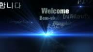 International Welcome Words (Blue Version) - Loop video