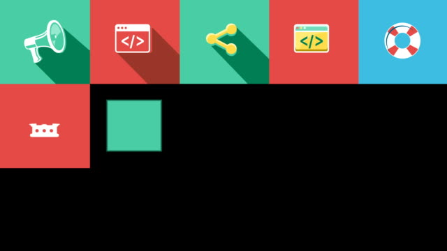 Internet and Web Flat Icons Set video