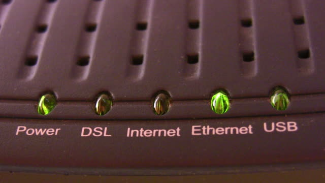 Internet modem light video