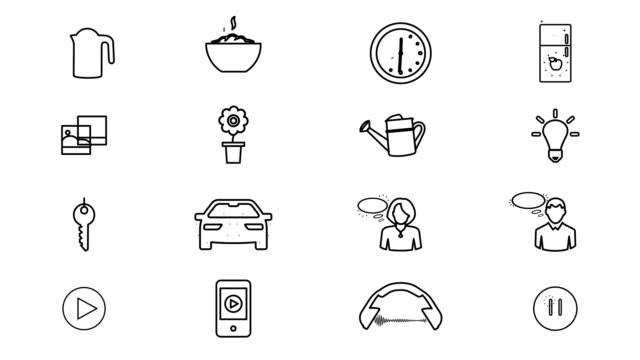 Internet Of Things and Smart Home Icons. 4K video