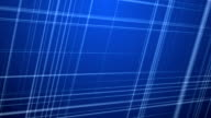 Intersecting Colored Fractal Lines Background - Blue. video