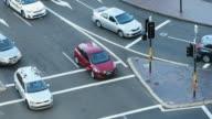 Intersection Aerial Traffic in Sydney Australia video