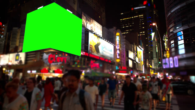 Intersection with Green screen Chroma Key NY video