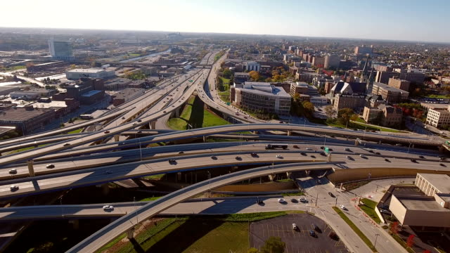 Interstate highways converge in Milwaukee video