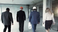 Investor accompanied by his advisers left the building after the inspection video