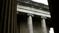 Ionic Capital Columns on Rainy Day video
