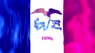 Iowa State Flag Animation video
