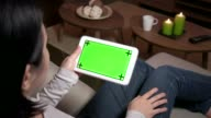 Ipad Digital Tablet Computer Technology Green Screen Monitor Email Internet video