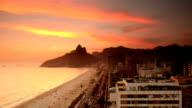 Ipanema Beach Sunset Time Lapse video