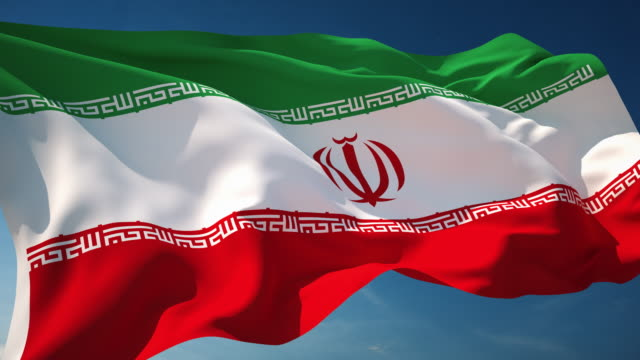 4K Iran Flag - Loopable video