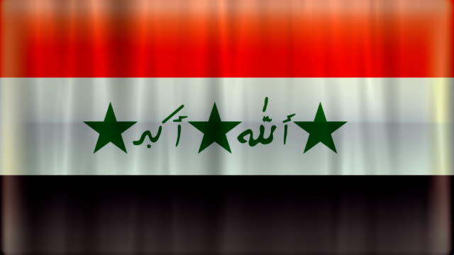 Iraq flag background (HD720 original) video