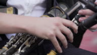 Irish Uilleann Piper Performing On Stage Close-up (4K/UHD) video