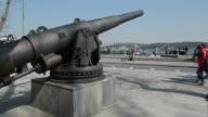 Iron Cannon in Istanbul on Seaside of Bosphorus video