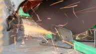 Iron cutting machine video