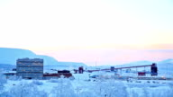 Iron Ore Mine Refinery Factory Working, Kiruna Sweden video