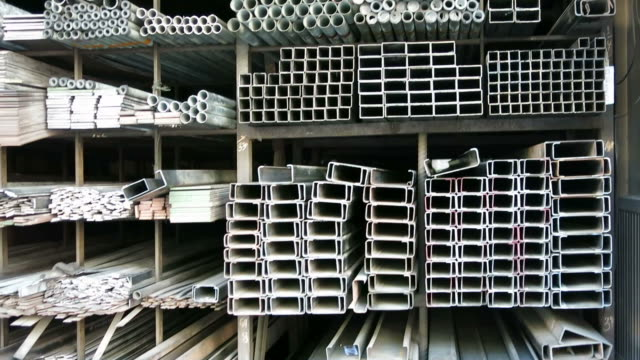 Iron profiles and steel rods video