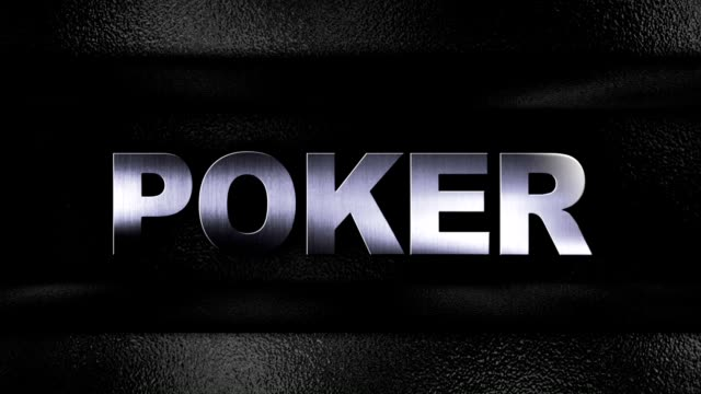 POKER Iron Text in Metal Door video