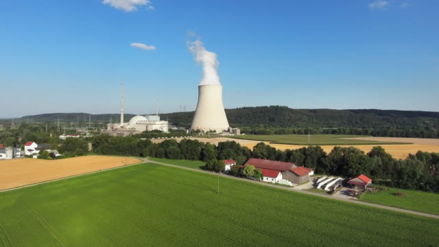 Isar Nuclear Power Plant In Lower Bavaria Near Landshut video