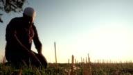 Islamic Man Praying Outdoors video