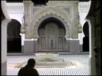 Islamic Mosque: Central Courtyard, Ablution Fountain (Wudu) And Worshipers video