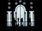 Islamic Mosque Window Silhouettes From Inside video