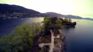 Island in the Lake Maggiore, Italy video